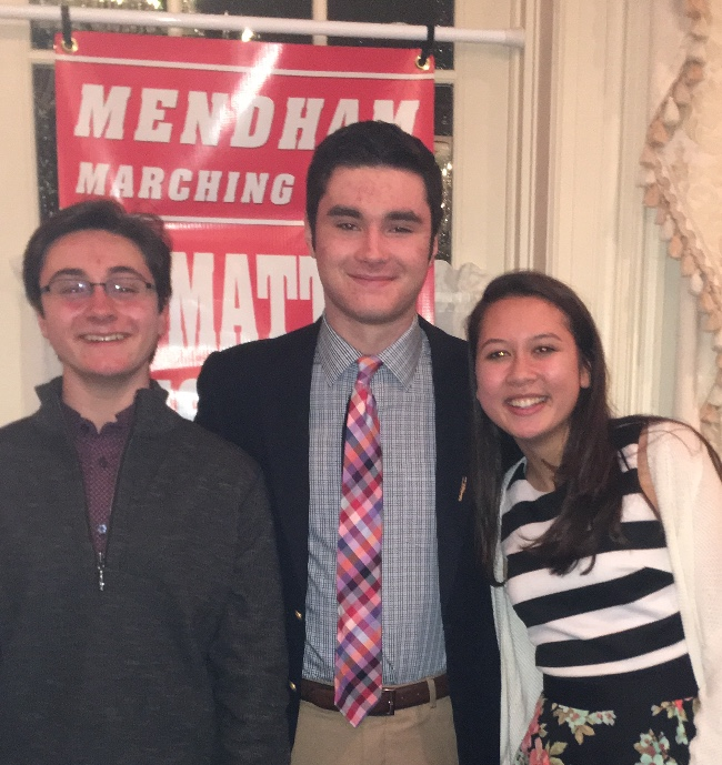 Matt+Witosky+pictured+in+center+at+Marching+Band+Banquet.