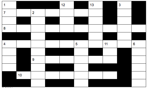 A 2018 Mendham Crossword
