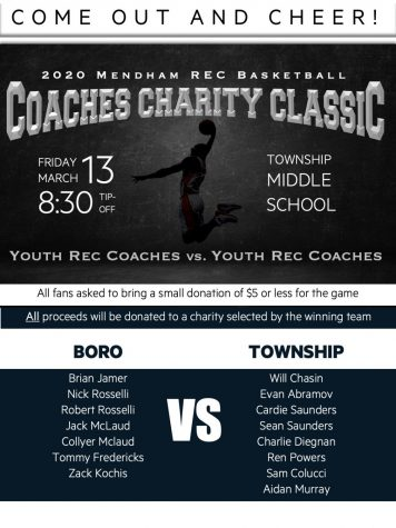 First Annual Mendham Rec Basketball Coaches Charity Classic