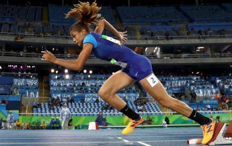 McLaughlin at the 2016 Rio Olympics in the Women's 400m Hurdles Round 1- Olympic Stadium - Rio de Janeiro, Brazil