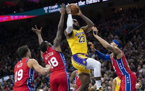 LeBron's layup that passed Kobe in points scored.