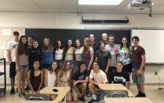 Mr. Acker and his Algebra II class from the 2016-2017 school year. Photo courtesy of Mr. Acker.