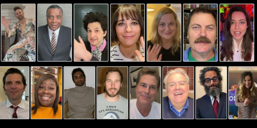Image of the entire cast at the very end of the episod. Courtesy of NBC.com.