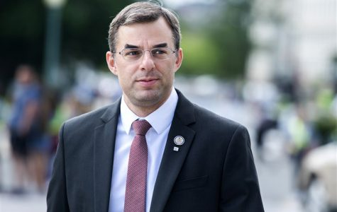 Rep. Justin Amash, R-Mich., makes his way to the Capitol on May 23, 2019.Tom Williams / CQ-Roll Call file