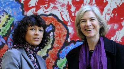 Emmanuelle Charpentier (L) and Jennifer Doudna (R) | Image courtesy of Getty Images
