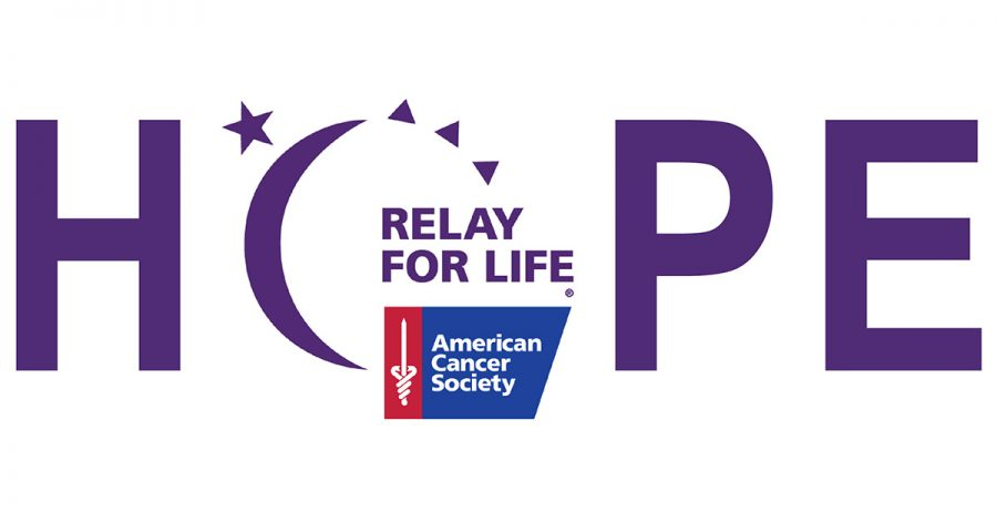 Of the logo for Relay for Life in the 'O' in 'Hope'. From Totally Boise