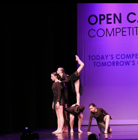 Ava Tino competing at dance competition. This image is courtesy of Ava Tino.