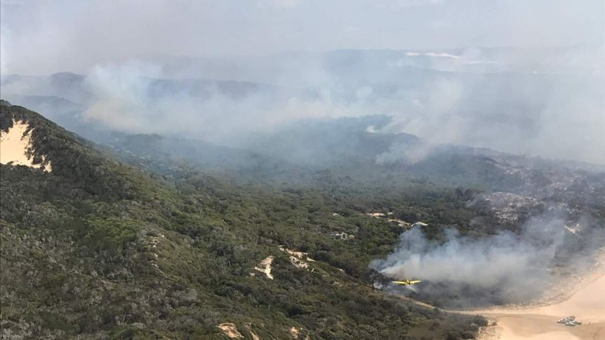 Of Fraser island bush fire. From ABC News