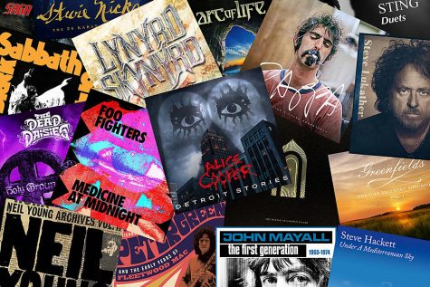 A collage of the many rock albums set to release this year. Image via Ultimate Classic Rock.
