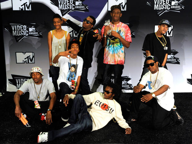 Tyler after winning at the VMA's, alongside with Odd Future