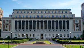 Butler Library, North Facade, Columbia University, New York by JSquish from Wikipedia Commons with Creative Commons Attribution-Share Alike 4.0 International license.
